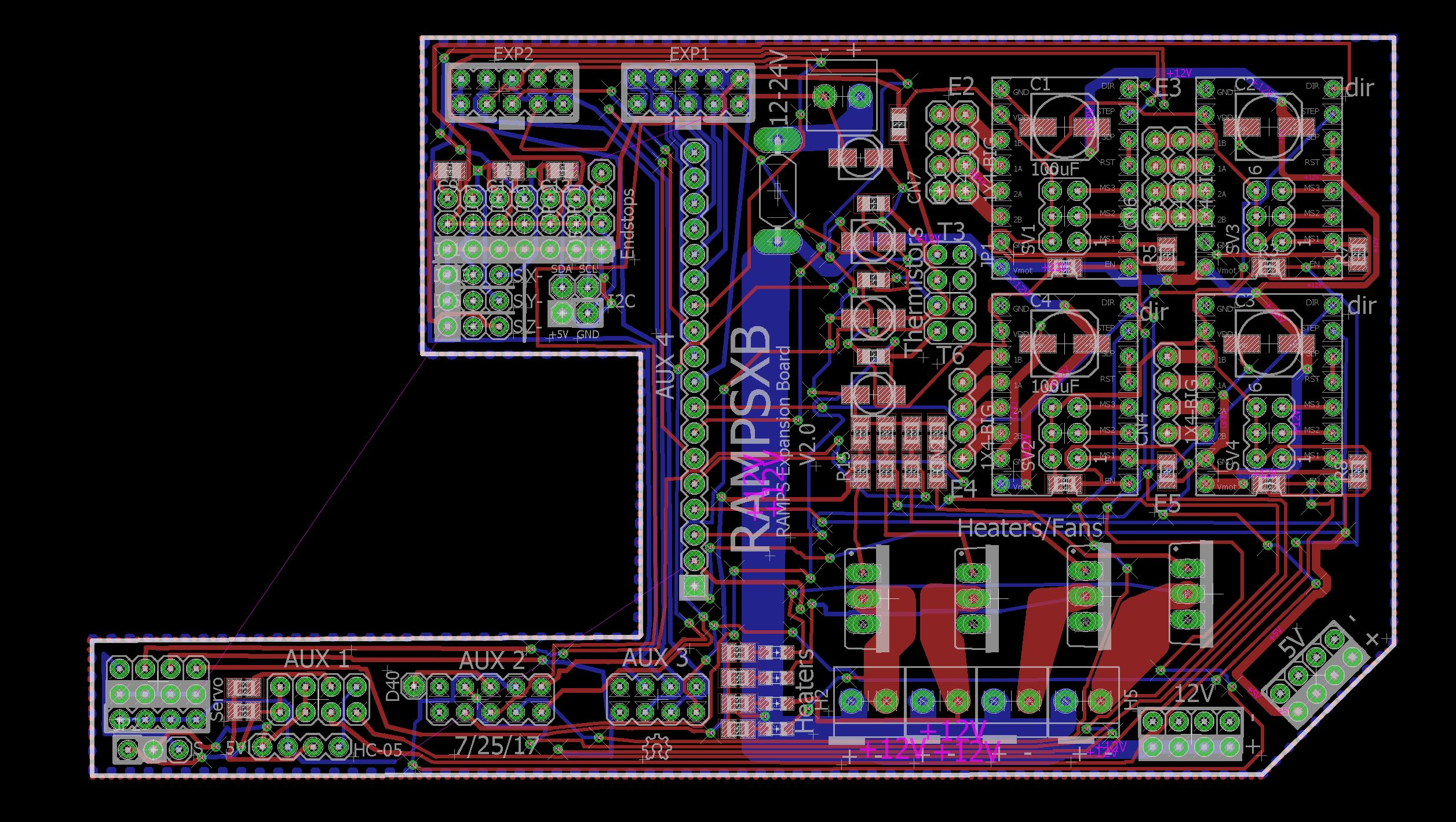 Rampsxb Dream The Impossible Ramps 14 Board It Took Me A While To Get All Wires Together But In End I Put V2 Pictures Section Above
