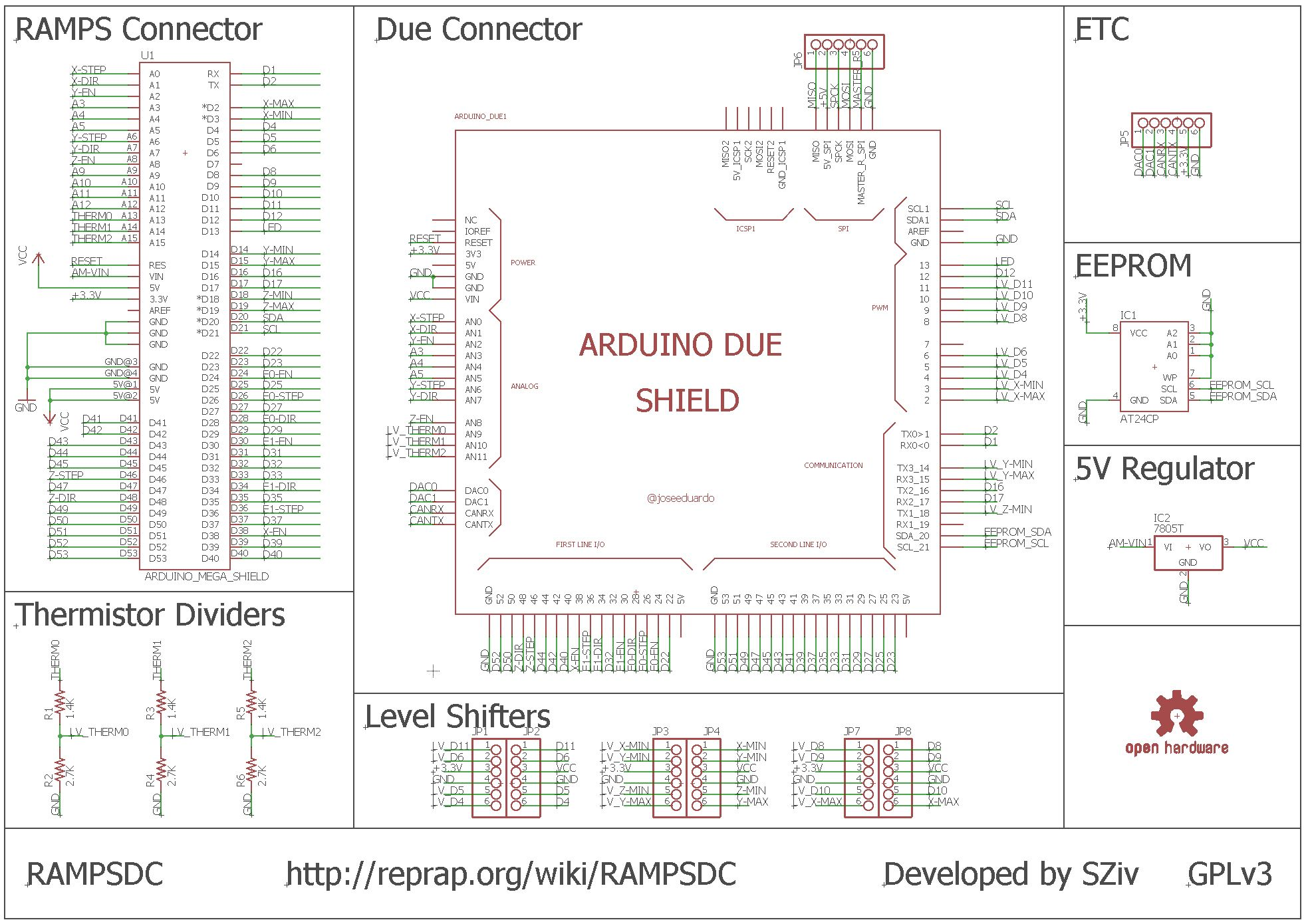 How To Modify A Standard Ramps 14 Work With Arduino Due Ramps14 Geeetech Wiki Schematic